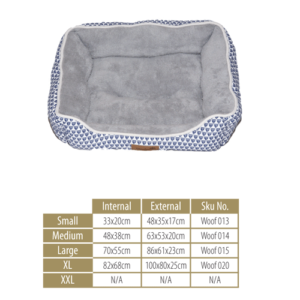 Woofers Dog Bed Range -Nore Large