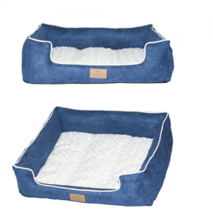 Yappy Dakota Range Dog Bed –   Navy/White Large