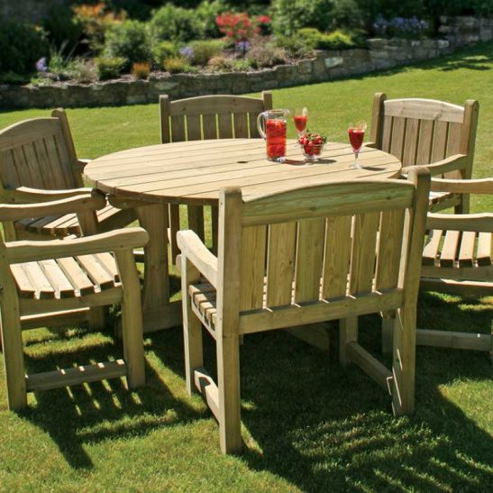 Cotswold Round Dining Set-Six Chairs
