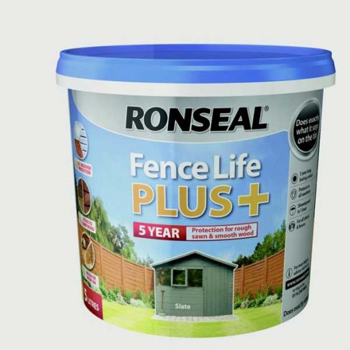 Ronseal Fence Life Plus 5L-Slate