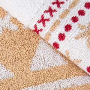 Kingsley 100% Cotton 3 Piece Hand/Bath Towel Bale – Alpine Gold & White