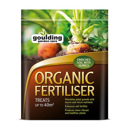Goulding Organic Fertiliser contains macro and micro nutrients.