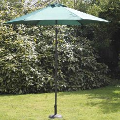 2.7M Steel Parasol with crank in Green-PASCGR269| McD's Garden Centre | Nationwide Delivery