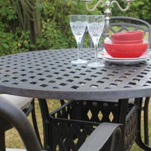 Cooley Cast Aluminium 4 Seater Dining Set