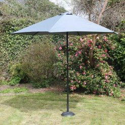 2.7m Steel Parasol With Crank – Grey