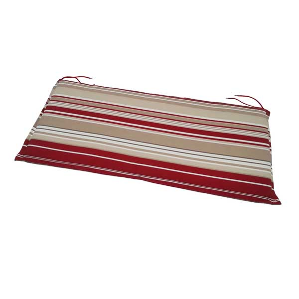 2 Seater Bench Cushion Red Stripe