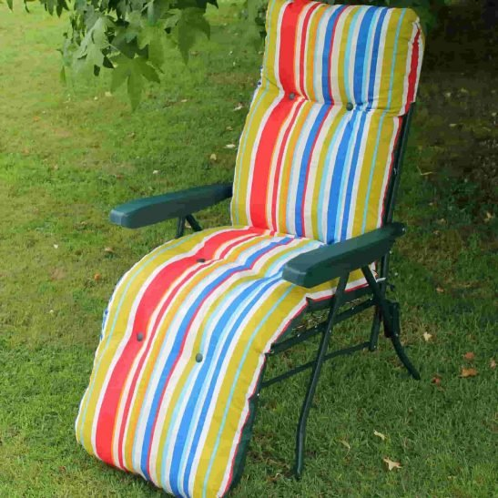 Padded Garden Lounger Sun Chair