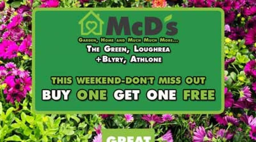 Flash Weekend Special On in Loughrea & Athlone McD's