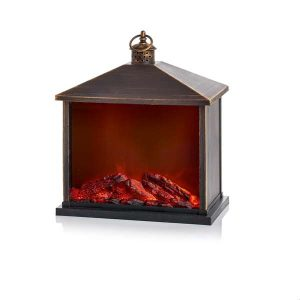 35cm Fireplace Lantern with Brush Effect – Choice of Four