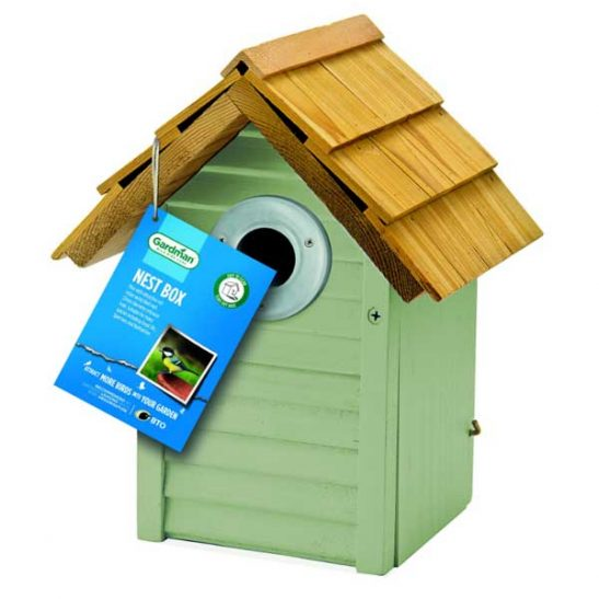 Gardman Beach Hut Nest Box - Sage Green