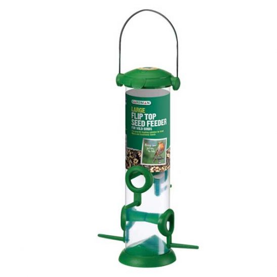 Gardman Flip Top Large Seed Feeder