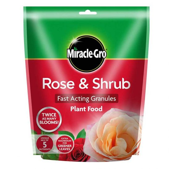Miracle-Gro Rose and Shrub Fast Acting Granules Plant Food 750g