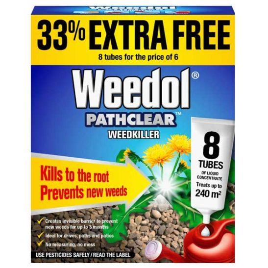 Weedol Pathclear Weedkiller 6 Tubes Plus 2 Free