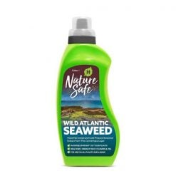 Nature Safe Plant & Lawn Feed Wild Atlantic Seaweed 1 Litre, Seawhite