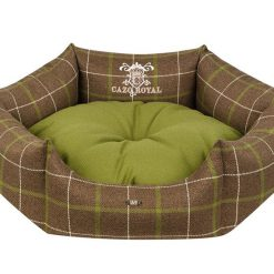 Cazo Royal Line Dog Bed Round   Green - Dog Nappers Dog Beds