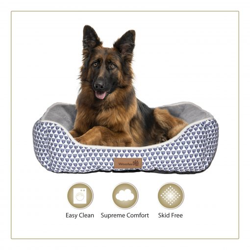 Woofers Nore X Large Dog Bed   Blue & White - Dog Nappers Dog Beds