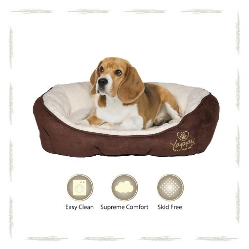 Yappy Roxy Medium Dog Bed Donut   Brown - Dog Nappers Dog Beds
