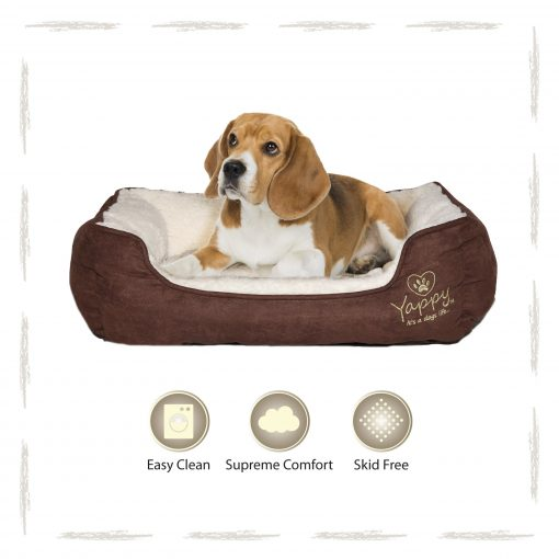 Yappy Roxy Medium Dog Bed   Brown - Dog Nappers Dog Beds