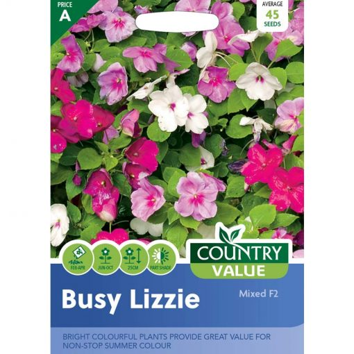 Busy Lizzie Mixed F2  Flower Seeds  Nationwide Delivery