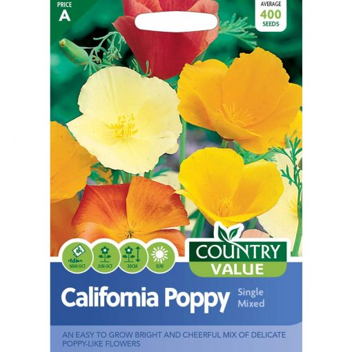 Californian Poppy Single Mixed  Flower Seeds  Nationwide Delivery