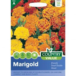 Marigold French Dwarf Double Mixed| Flower Seeds| Nationwide Delivery