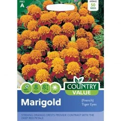 Marigold French Tiger Eyes| Flower Seeds| Nationwide Delivery