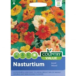 Nasturtium Jewel Mixed| Flower Seeds| Nationwide Delivery