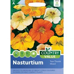 Nasturtium Tom Thumb Mixed| Flower Seeds| Nationwide Delivery