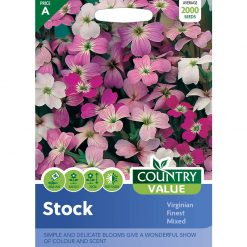 Stock Virginian Finest Mixed| Flower Seeds| Nationwide Delivery