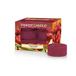Yankee Candle Black Cherry Tea Lights | 1129755E | Yankee Candle Delivery In Ireland
