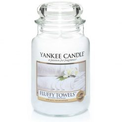 Yankee Candle Fluffy Towels Large Jar Candle | 1205376E | Yankee Candle Delivery In Ireland