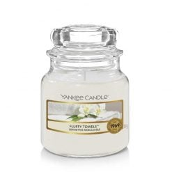 Yankee Candle Fluffy Towels Small Jar Candle | 1205378E | Yankee Candle Delivery In Ireland