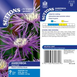 Amberboa Seeds - Desert Star by Suttons Seeds| 101233| Nationwide Delivery On Flower Seeds
