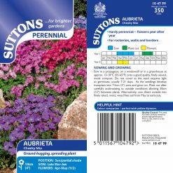 Aubrieta Seeds - Cheeky Mix by Suttons Seeds| 104799| Nationwide Delivery On Flower Seeds