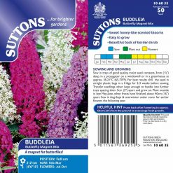 Buddleia Seeds - Butterfly Magnet Mix by Suttons Seeds| 106035| Nationwide Delivery On Flower Seeds