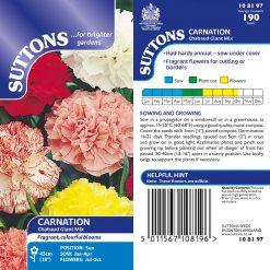 Carnation Seeds - Chabaud Giant Mix by Suttons Seeds| 108197| Nationwide Delivery On Flower Seeds