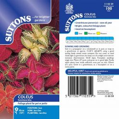 Coleus Seeds - Rainbow Mix by Suttons Seeds| 110359| Nationwide Delivery On Flower Seeds
