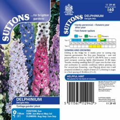 Delphinium Seeds - Delight Mix by Suttons Seeds| 112945| Nationwide Delivery On Flower Seeds