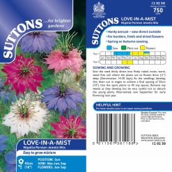 Love-In-A-Mist Seeds - Persian Jewels Mix by Suttons Seeds| 120250| Nationwide Delivery On Flower Seeds