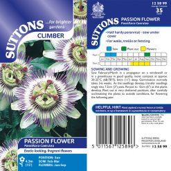 Passion Flower Seeds - Caerulea by Suttons Seeds  125899  Nationwide Delivery On Flower Seeds