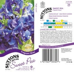 Sweet Pea Seeds - Fragrant Skies by Suttons Seeds| 133328| Nationwide Delivery On Flower Seeds