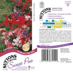 Sweet Pea Seeds - Fragrant Tide Mix by Suttons Seeds| 133334| Nationwide Delivery On Flower Seeds