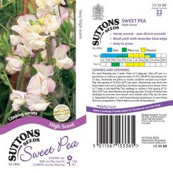 Sweet Pea Seeds - High Scent by Suttons Seeds| 133360| Nationwide Delivery On Flower Seeds