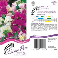 Sweet Pea Seeds - Everlasting Mix by Suttons Seeds| 133476| Nationwide Delivery On Flower Seeds