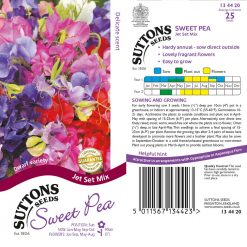 Sweet Pea Seeds - Jet Set Mix by Suttons Seeds| 134420| Nationwide Delivery On Flower Seeds