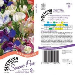 Sweet Pea Seeds - True Fragrance by Suttons Seeds| 134617| Nationwide Delivery On Flower Seeds