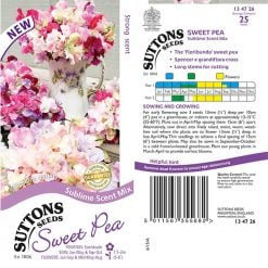 Sweet Pea Seeds - Sublime Scent Mix by Suttons Seeds| 134726| Nationwide Delivery On Flower Seeds