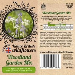 Woodland Garden Mix Seeds by Suttons Seeds| 140002| Nationwide Delivery On Flower Seeds
