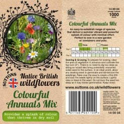 Colourful Annuals Mix Seeds by Suttons Seeds| 140004| Nationwide Delivery On Flower Seeds
