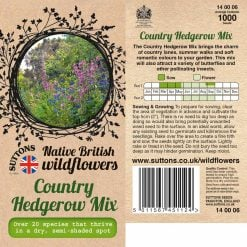 Country Hedgerow Mix Seeds by Suttons Seeds| 140006| Nationwide Delivery On Flower Seeds